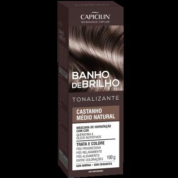 Castanho Médio Natural Banho de Brilho Tonalizante 100g