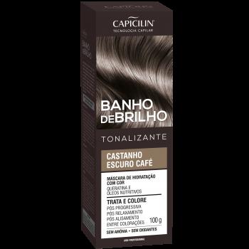 Castanho Escuro Café Banho de Brilho Tonalizante 100g